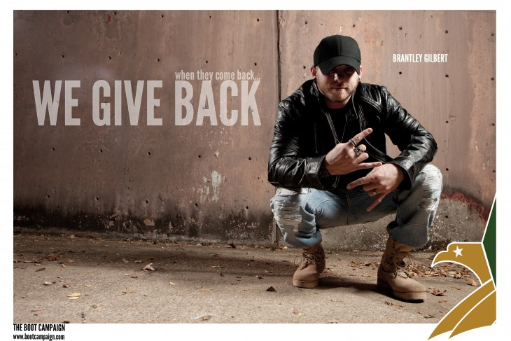 Brantley Gilbert Boot Campaign - CountryMusicRocks.net