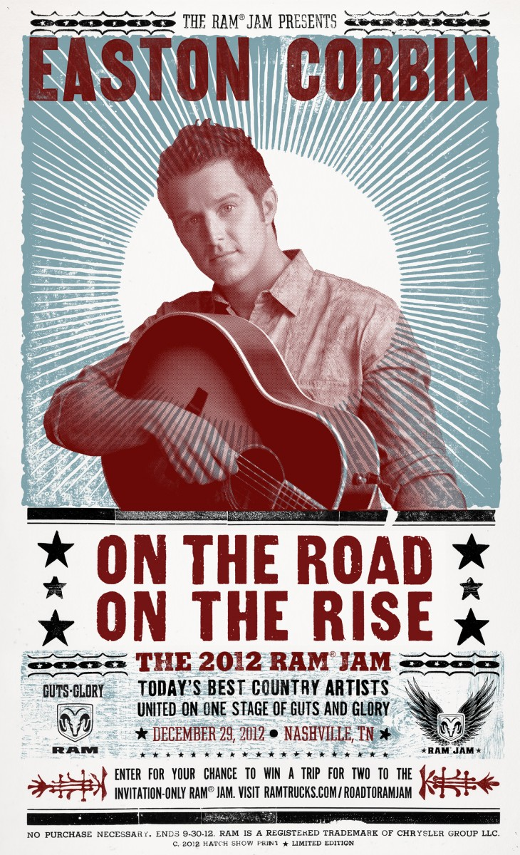 Easton Corbin Hatch Print RAM Jam - CountryMusicRocks.net