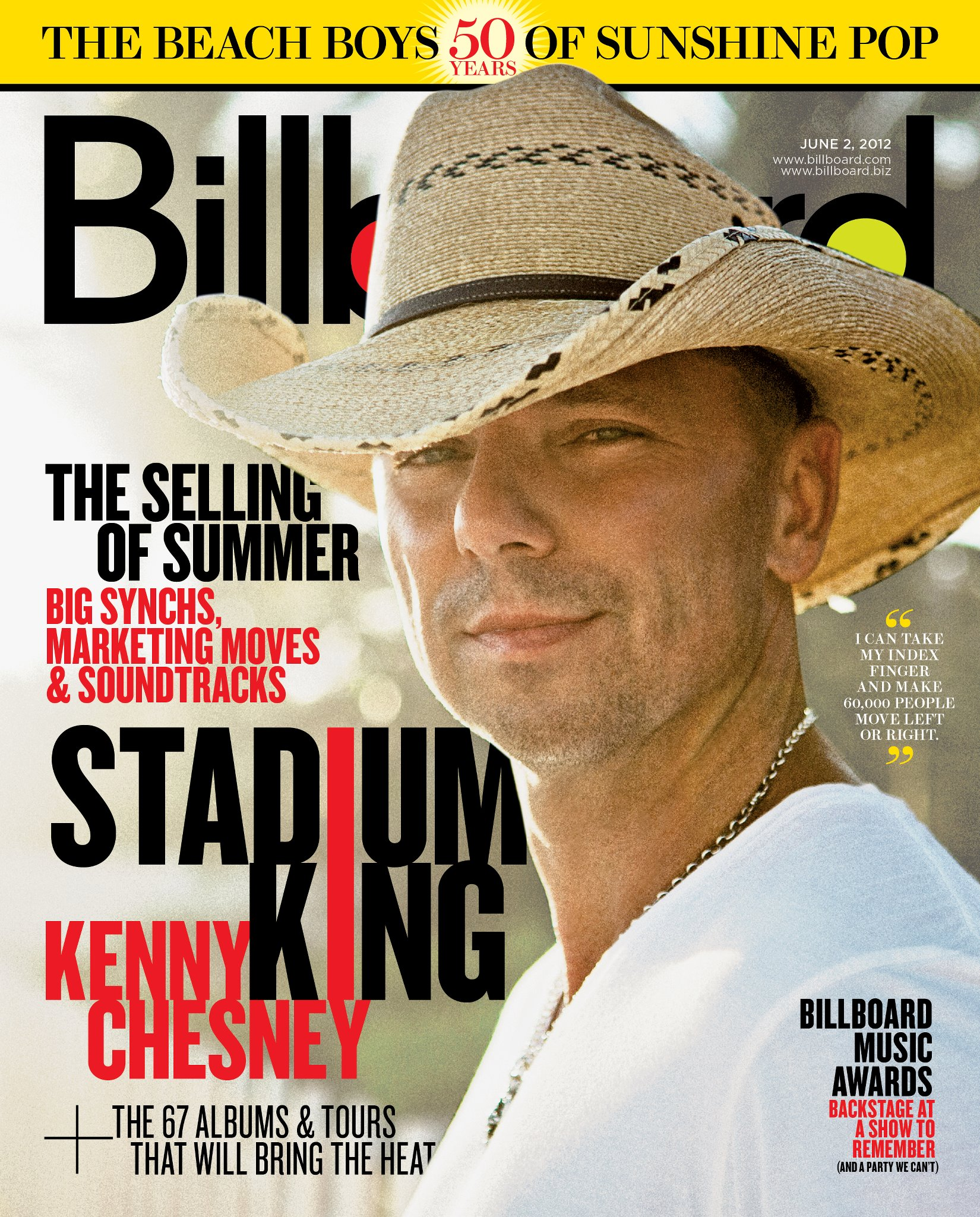 Kenny Chesney Rocks The Cover Of Billboard Magazine Country Music