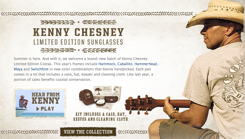 Costa Maya Sunglasses  contest enter to win a kenny chesney costa sunglasses prize pack