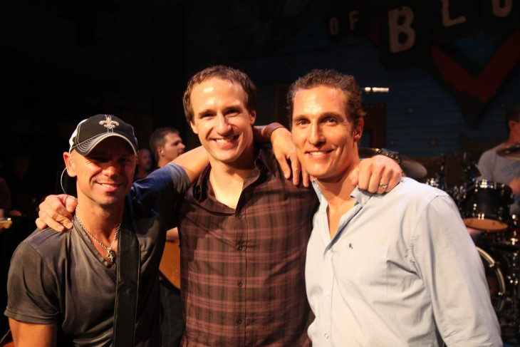 Kenny Chesney Drew Brees Matthew McConaughey - CountryMusicRocks.net
