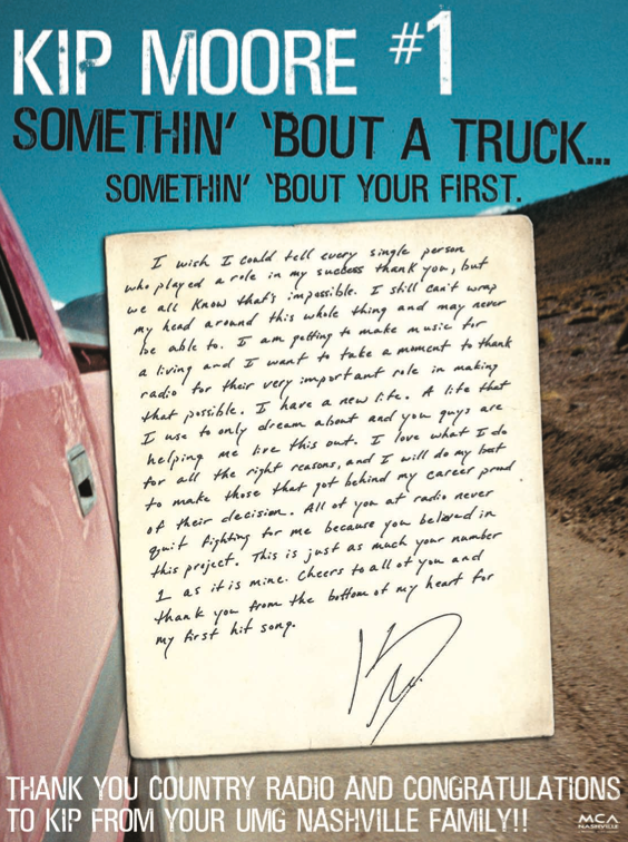 Kip Moore Thank You Note - CountryMusicRocks.net