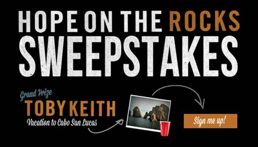 toby keith launches hope on the rocks sweepstakes. Black Bedroom Furniture Sets. Home Design Ideas