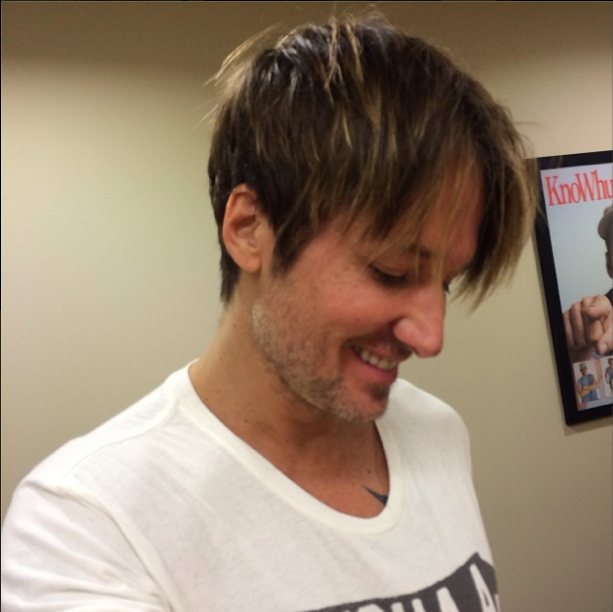 keith urban haircut keith reveals his new haircut country rocks 1259 | Keith Urban Haircut CountryMusicRocks.net