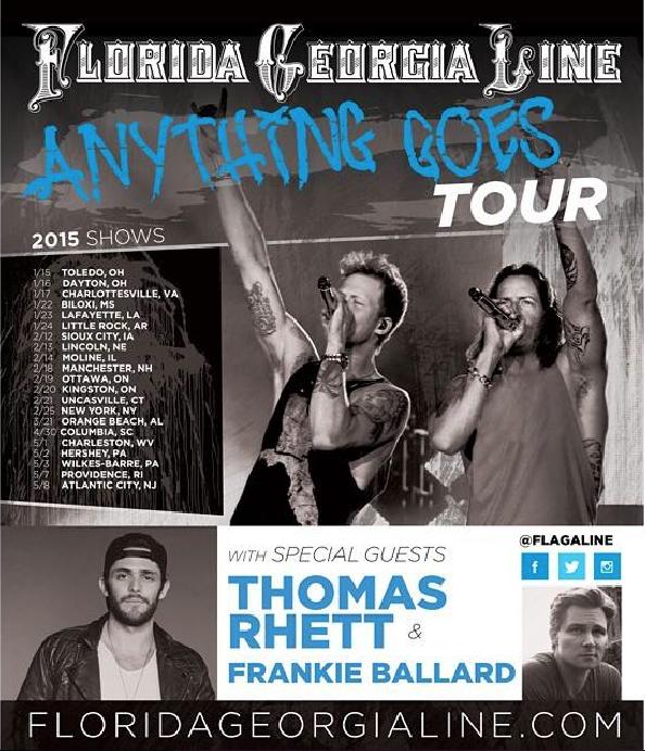 Florida Georgia Line Anything Goes Tour