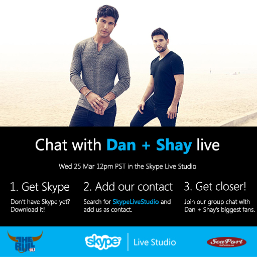 Dan + Shay Skype Live Studio - CountryMusicRocks.net