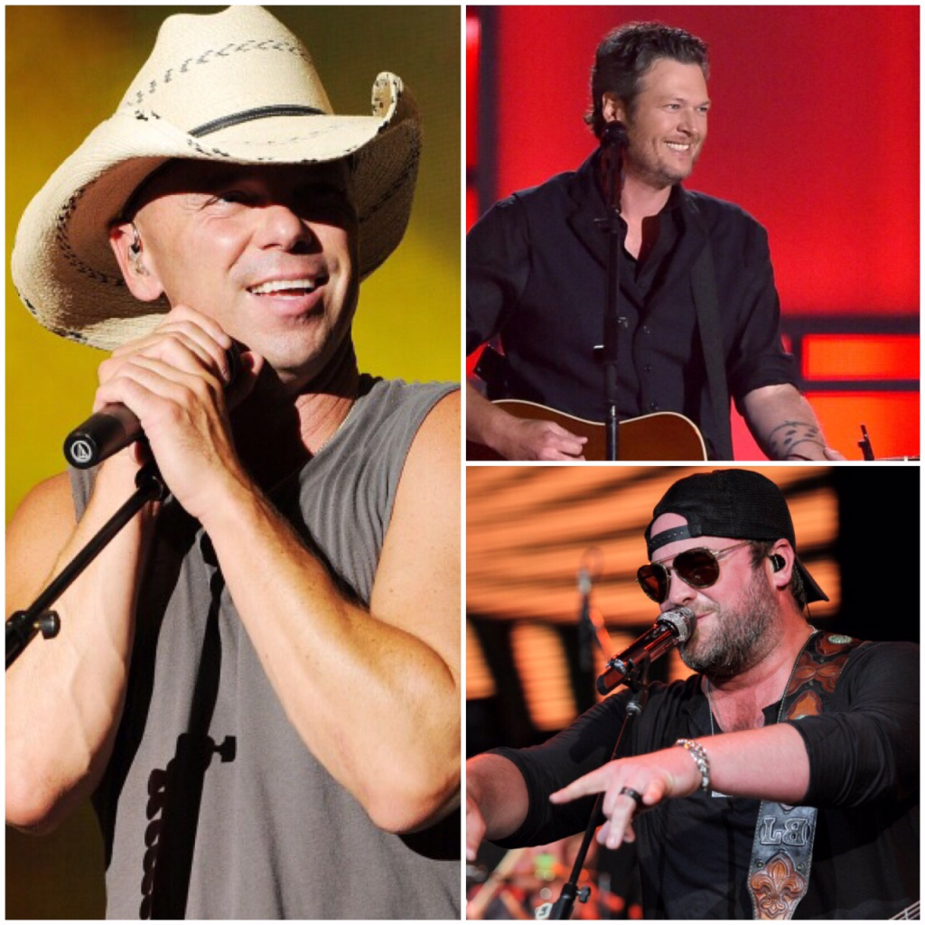 Kenny Chesney Lee Brice Blake Shelton - CountryMusicRocks.net