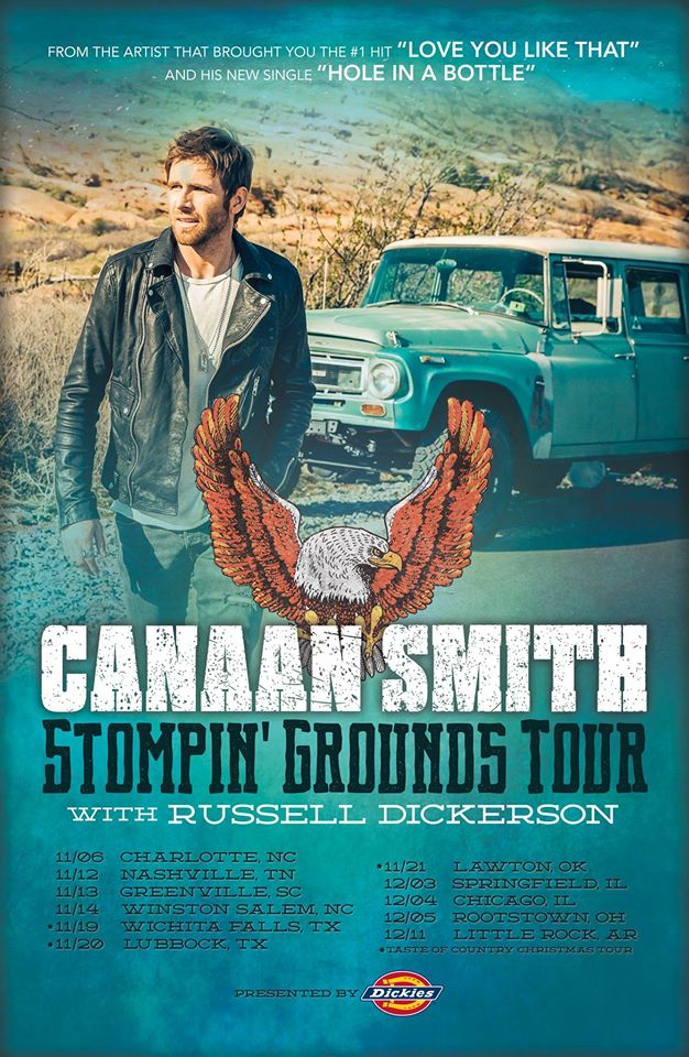 Canaan Smith Stompin Grounds Tour - CountryMusicRocks.net