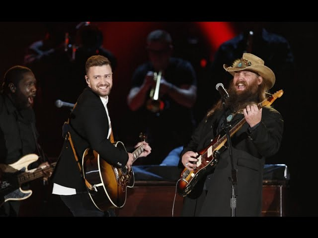 Chris Stapleton And Justin Timberlake Deliver An Epic Cma