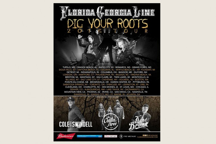 Florida Georgia Line Dig Your Roots Tour March