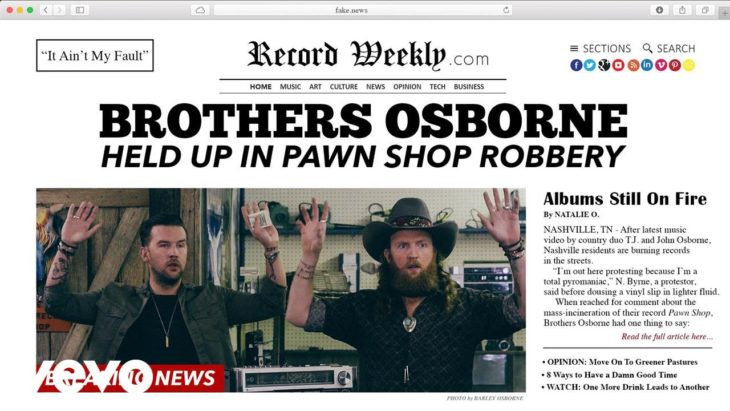 Brothers Osborne It Ain't My Fault Video