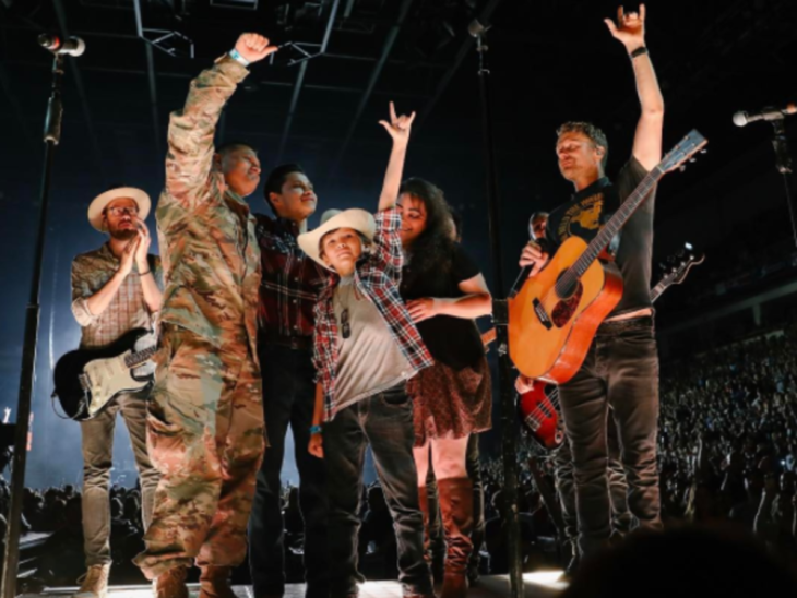 Dierks Bentley Reunites Military Family