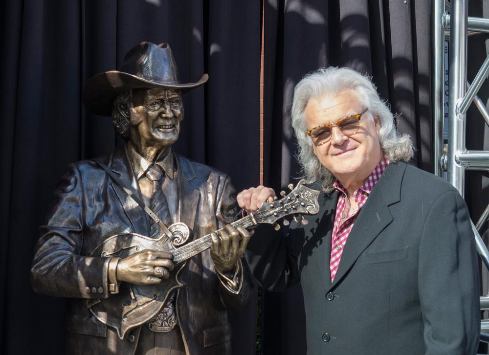 Ricky Skaggs Bill Monroe Statue Ryman Auditorium